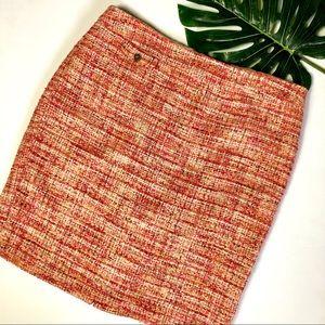 Kenar Pink & Orange Tweed Mini Skirt